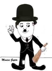 cartoon Chaplin by monica gupta